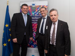 Maroš Šefčovič receives Serge Haroche, laureate of the Nobel Prize in Physics 2012.
