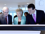 Inauguration of the new Visitors' Centre by Viviane Reding and Maroš ŠEFČOVIČ