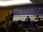 Maroš Šefčovič takes part in the international conference '10 years in the EU, Opportunities for Business Competitiveness and Growth' in Bratislava.