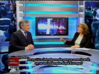 23/09/11 - Vice President Antonio Tajani on current crisis of Euro - Interview with Romania TV © tvr.ro