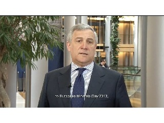 24/05/13 - European Minerals Day 2013 video message by Commission Vice-President A. Tajani (EN subtitles) © IMA-Europe