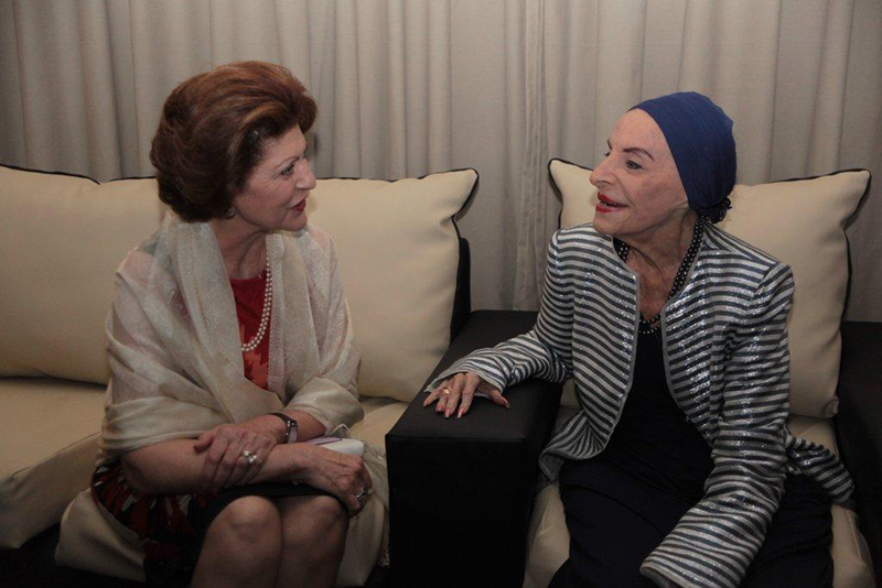 Androulla Vassiliou (l) and Alicia Alonso (r)