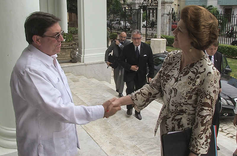 Androulla Vassiliou meeting Foreign Minister of Cuba Bruno Rodríguez