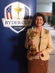 Commissioner holding the Ryder Cup