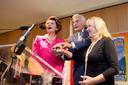 President Buzek, Commissioner Vassiliou and MEP Hibner light up the exhibition.