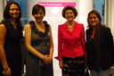 Commissioner Vassiliou is next to Alessandra Luchetti, Head of the Marie Curie Actions unit, and Vanessa and Claire, both Marie Curie fellows
