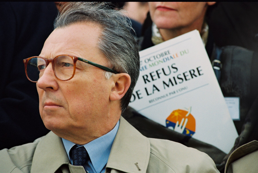 Participation of Jacques Delors, president of the CEC, in the World Day to Overcome Extreme Poverty