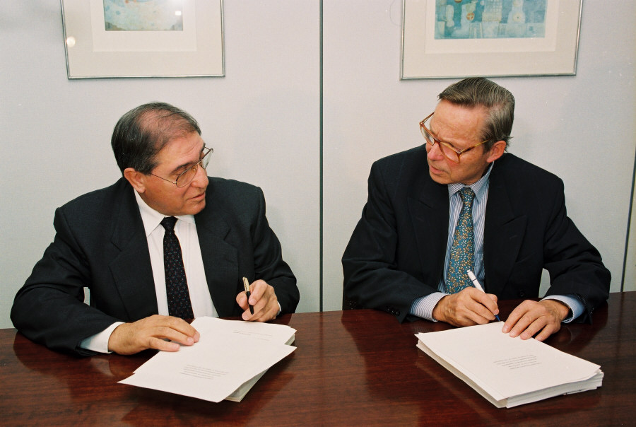 Signing of the Association Agreement between the CEC and Israel