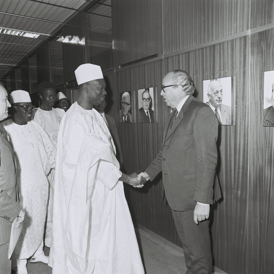 Visit of Moussa Traoré, President of Mali, to the CEC