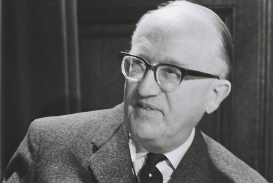 Portraits of Walter Hallstein, first President of the European Commission of the EEC
