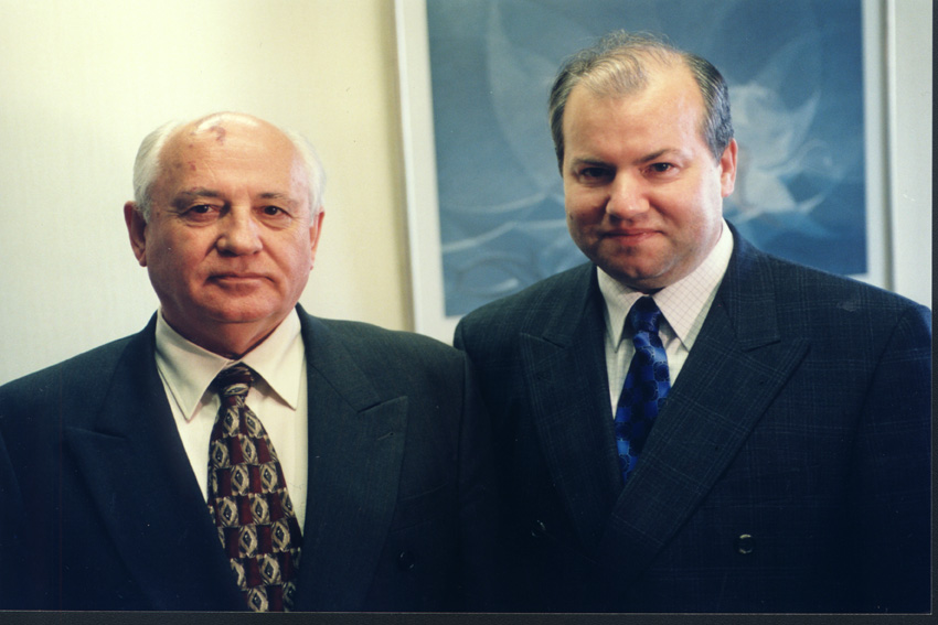 Mikhail Gorbachev visits the European Commission