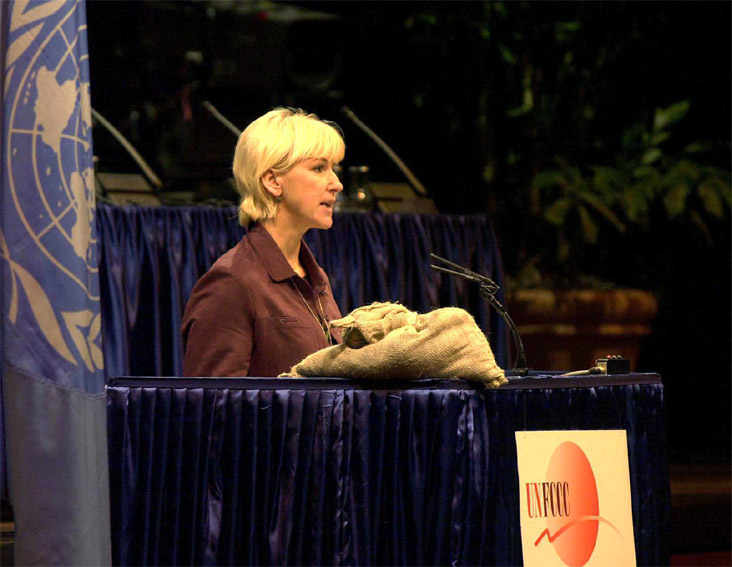 Margot Wallström, member of the EC, attended the United Nations' Conference on Climate Change