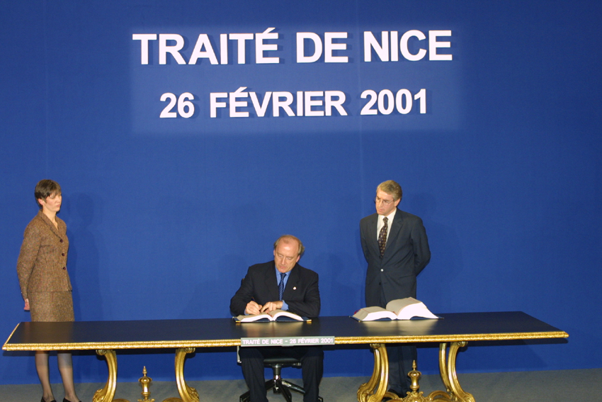 Signature of the Treaty of Nice