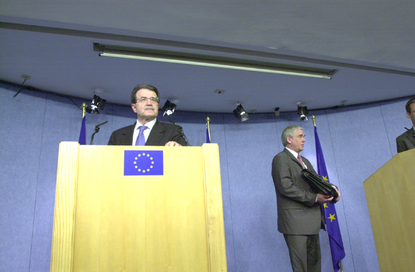 Joint press conference by Romano Prodi and Poul Nielson