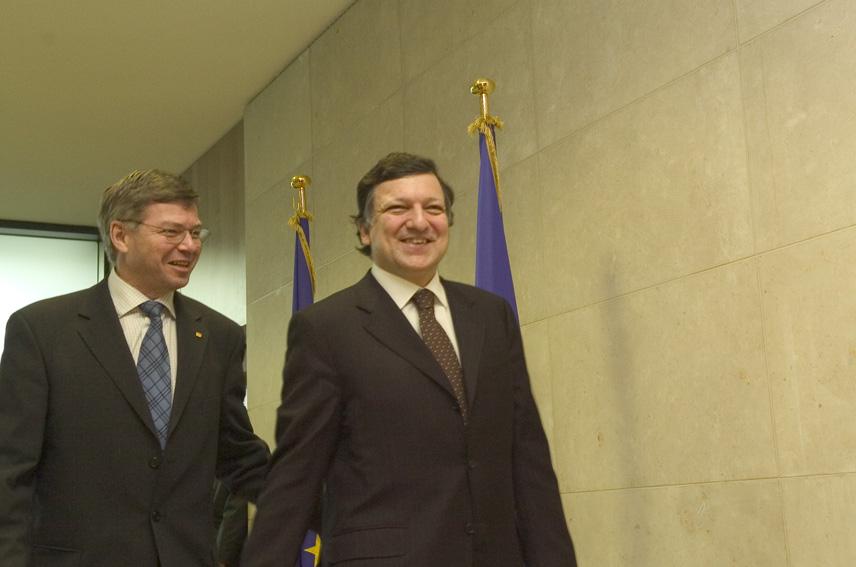Visite de Kjell Magne Bondevik, Premier ministre norvégien, à la CE