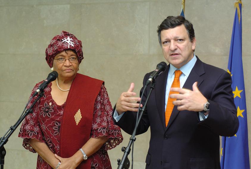 Visit by Ellen Johnson-Sirleaf, President of Liberia, to the EC