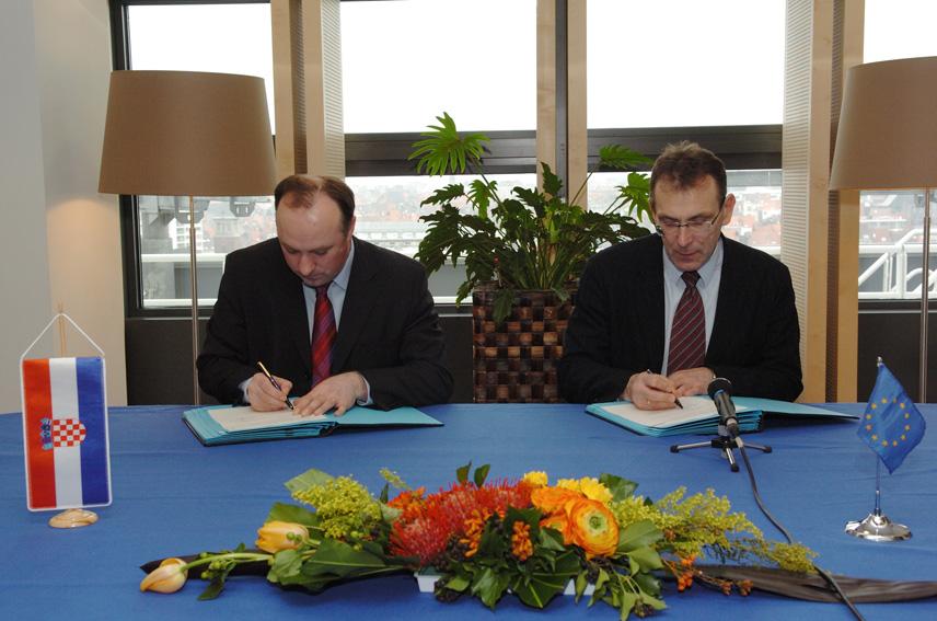 Signature of a memorandum of understanding EU/Croatia for the programme