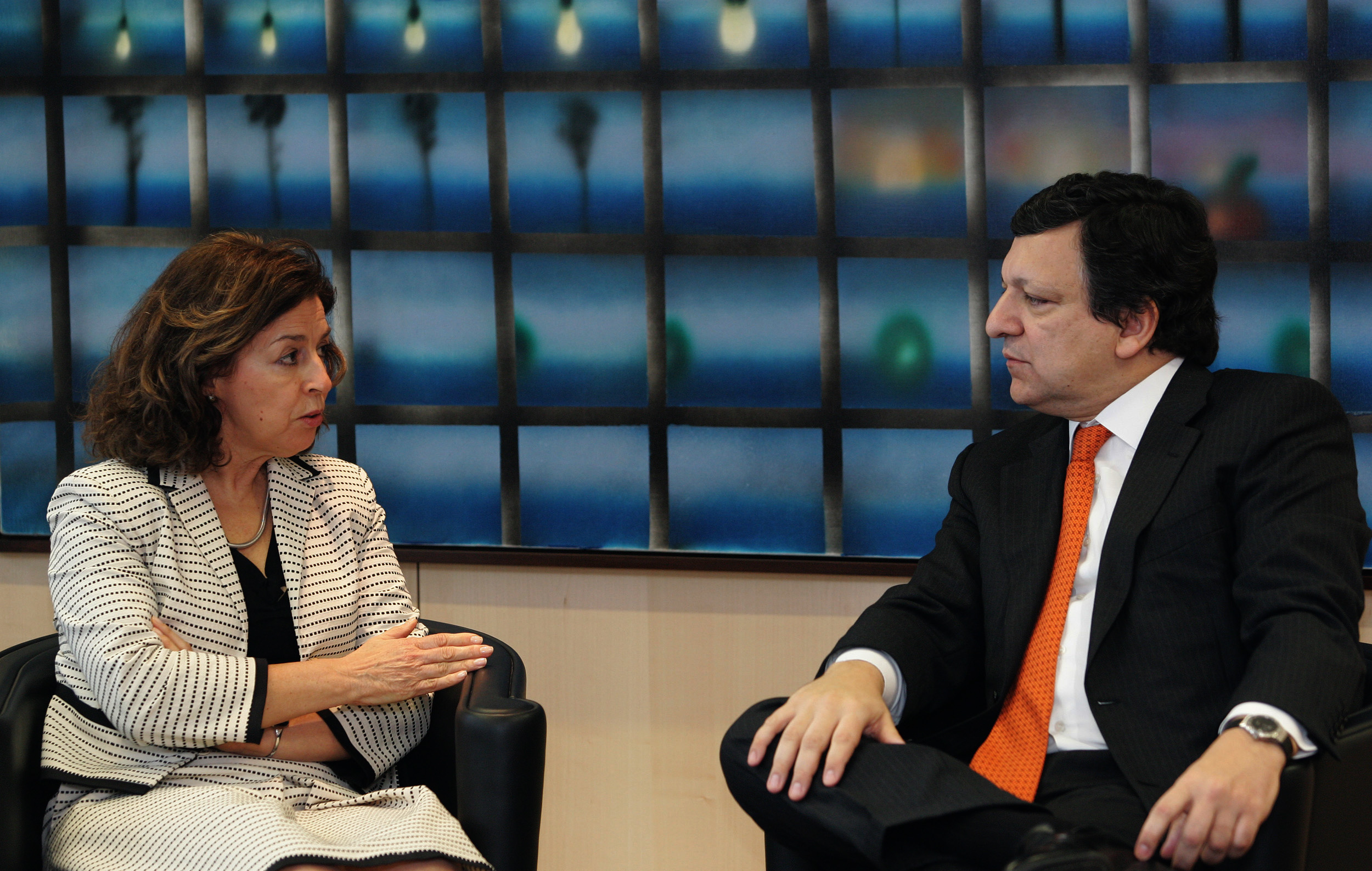 Visit by Leonor Beleza, President of the Foundation Champalimaud, to the EC