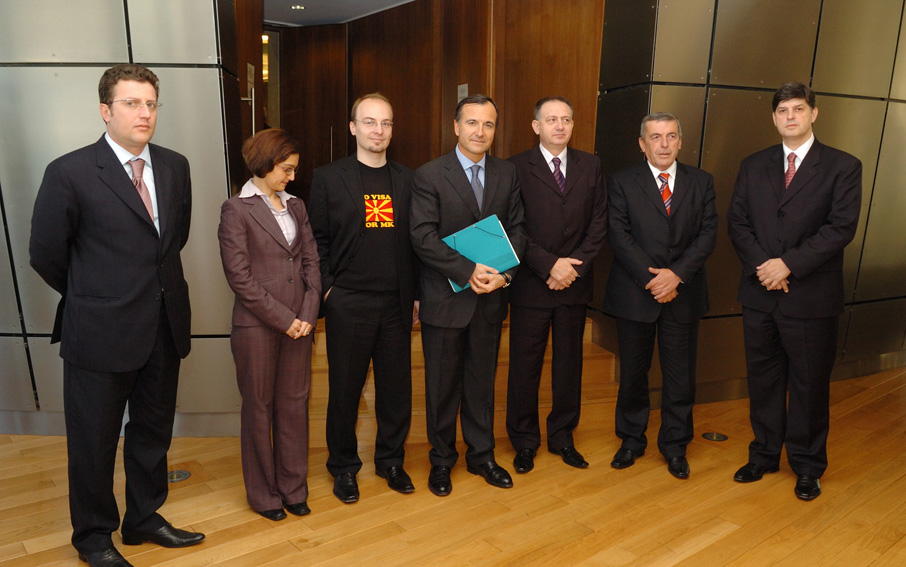 Visit by six Ministers from the Balkan, to the EC