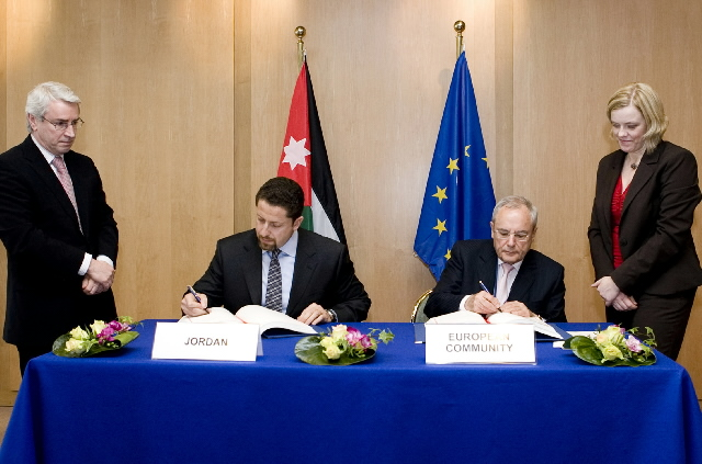 Signature of an agreement between the EU and Jordan on the aviation sector