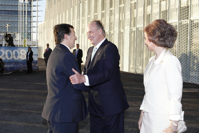 Participation of José Manuel Barroso, President of the EC, in the inauguration of the Expo Zaragossa 2008