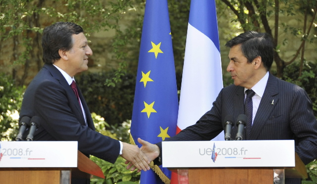 Meeting between José Manuel Barroso, President of the EC, the College of the EC, and the French Presidency of the European Council