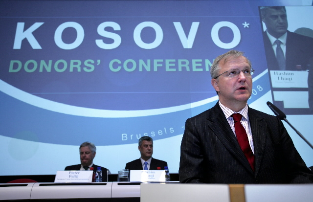 Participation of Olli Rehn, Member of the EC, at the conference of the donors for Kosovo