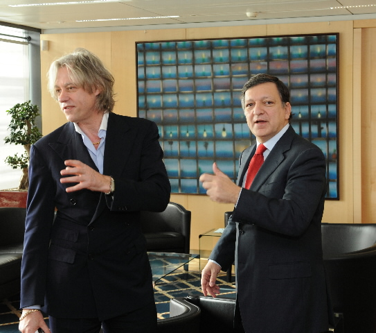 Visit of Bob Geldof, singer and Member of the Africa Progress Panel, to the EC