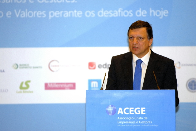 Participation of José Manuel Barroso at the Congress of the Christian Association of Managers and Businessmen