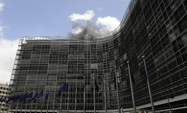 Fire at the Berlaymont building