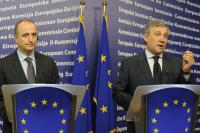 Joint press conference by Antonio Tajani and Miguel Sebastián Gascón following the informal meeting with EU Ministers on the economic situation in the car sector