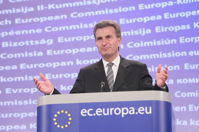 Press Conference by Günther Oettinger, Member of the EC, on the first EU system for certifying sustainable biofuels