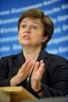 Press conference by Kristalina Georgieva, Member of the EC, on the situation in Pakistan, devastatedᅠby floods