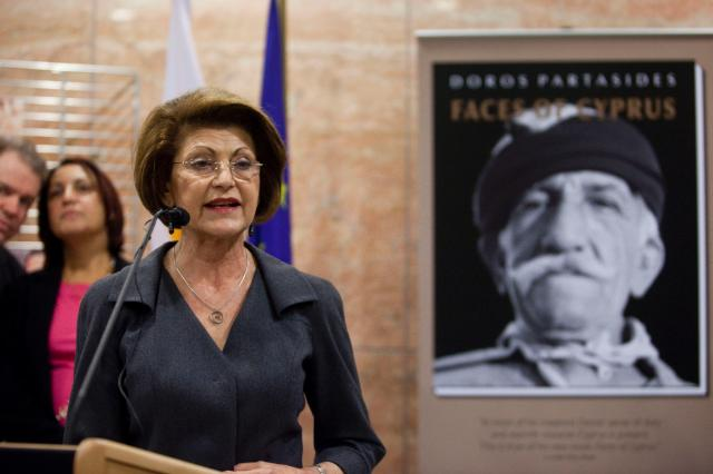 Opening of the photographic exhibition Faces of Cyprus of Doros Partasides, by Androulla Vassiliou, Member of the EC