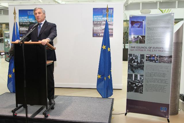 Opening by Antonio Tajani, Vice-President of the EC, of the exhibition on