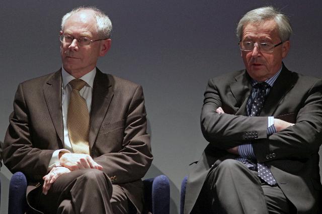 Participation de José Manuel Barroso, président de la CE, à la cérémonie de remise du Collier Mérite Européen