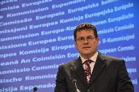 Press conference by Maroš Šefčovič, Vice-President of the EC, on the success of policy to recruit Staff from EU-10 after 2004 Enlargement