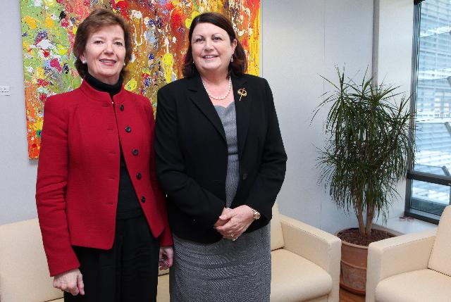 Visit of Mary Robinson, President of the Mary Robinson Foundation for Climate Justice, to the EC