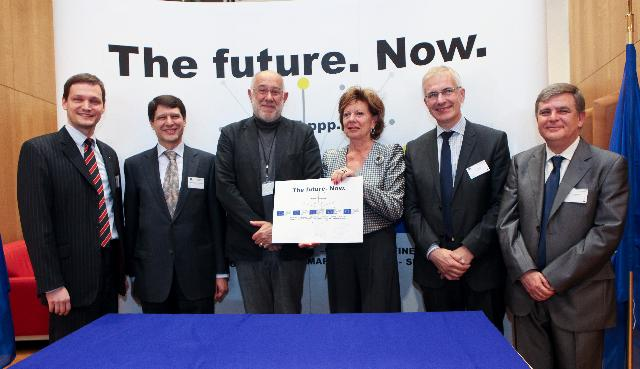 Participation of Neelie Kroes, Vice-President of the EC, at the launch of the first phase of the public-private partnership on the Internet of the Future (FI-PPP)