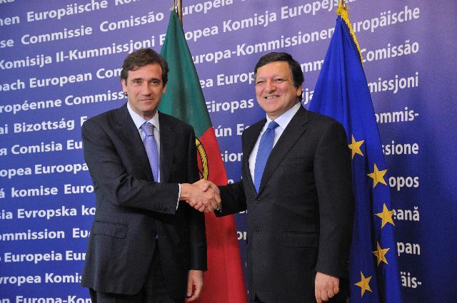 Visite de Pedro Passos Coelho, Premier ministre portugais, à la CE