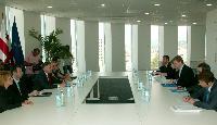 Visite de Štefan Füle, membre de la CE, en Géorgie