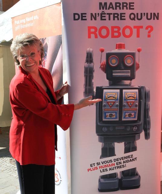 Participation of Viviane Reding, Member of the EC, in the Fête du bénévolat