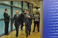 Visite de Traian Băsescu, président de la Roumanie, à la CE