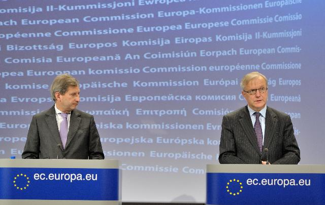 Joint press conference by Olli Rehn, Vice-President of the EC, and Johannes Hahn, Member of the EC, on the suspension of €495 million of Cohesion Fund for Hungary for 2013