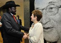 Visit of Salva Kiir Mayardit, President of South Sudan, to the EC