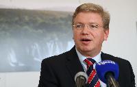 Conférence de presse de Štefan Füle, membre de la CE, sur l'adhésion du Monténégro à l'UE