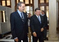 Meeting between Antonis Samaras, Greek Prime Minister, and José Manuel Barroso, President of the EC