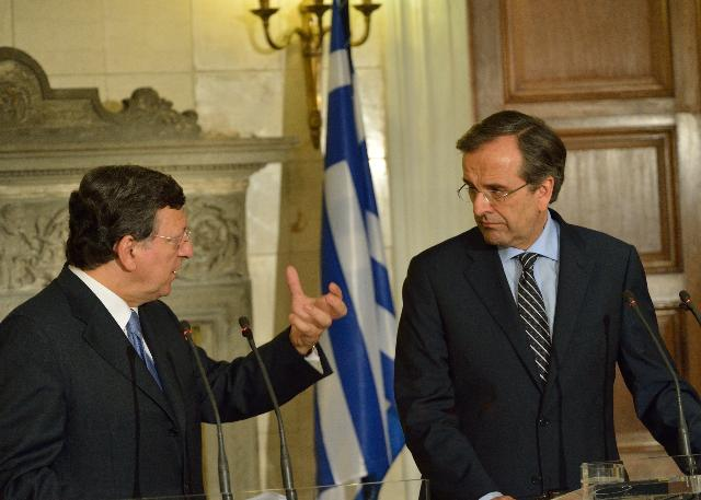 Meeting between Antonis Samaras, Greek Prime Minister, and José Manuel Barroso, President of the EC