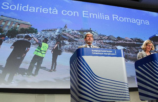 Press conference by Johannes Hahn, Member of the EC, on the allocation of the EU Solidarity Fund for Emilia Romagna