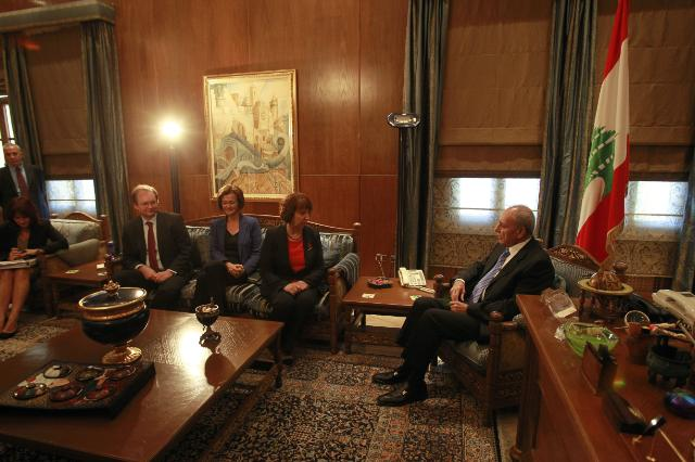 Visit of Catherine Ashton, Vice-President of the EC, to Lebanon
